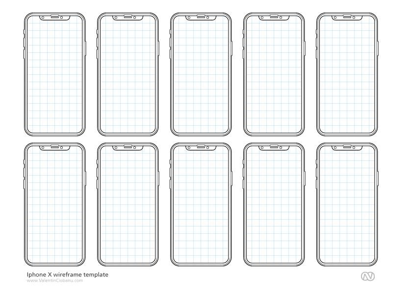 iPhone X templates – Valentin Ciobanu